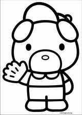 Hello Kitty coloring page (012)