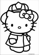 Hello Kitty coloring page (014)