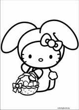 Hello Kitty coloring page (016)