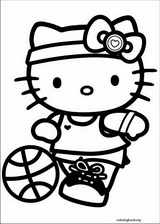 Hello Kitty coloring page (018)