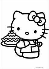 Hello Kitty coloring page (020)