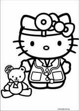 Hello Kitty coloring page (021)