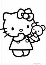 Hello Kitty coloring page (022)