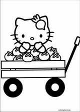 Hello Kitty coloring page (023)
