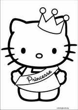 Hello Kitty coloring page (025)