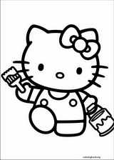 Hello Kitty Coloring Pages ColoringBookorg