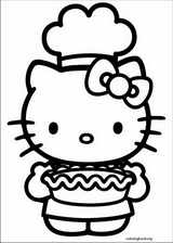 Hello Kitty coloring page (027)
