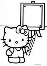 Hello Kitty coloring page (028)