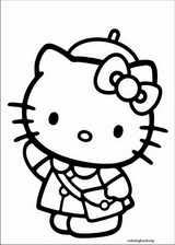 Hello Kitty coloring page (030)