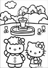 Hello Kitty coloring page (033)
