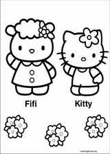 Hello Kitty coloring page (034)