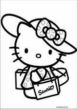 Hello Kitty coloring page (035)