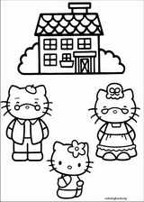 Hello Kitty coloring page (036)