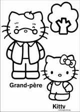 Hello Kitty coloring page (037)