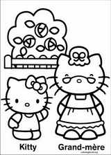 Hello Kitty coloring page (038)