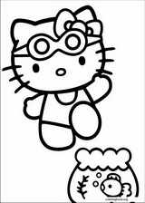 Hello Kitty coloring page (040)
