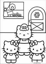 Hello Kitty coloring page (043)
