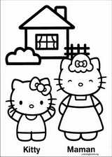 Hello Kitty coloring page (044)