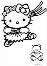 Hello Kitty coloring page (045)