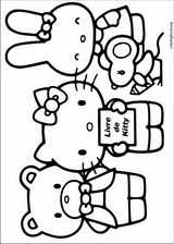 Hello Kitty coloring page (047)