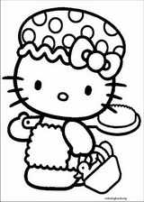 Hello Kitty coloring page (048)