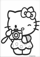 Hello Kitty coloring page (051)