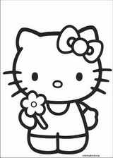 Hello Kitty coloring page (053)