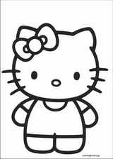 Hello Kitty coloring page (054)