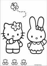 Hello Kitty coloring page (055)