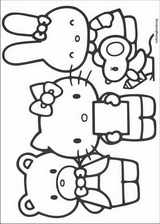 Hello Kitty coloring page (057)