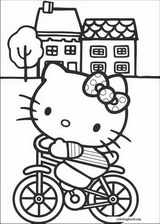 Hello Kitty coloring page (060)