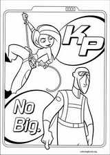 Kim Possible coloring page (005)