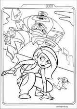 Kim Possible coloring page (017)