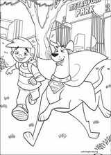 Krypto coloring page (001)