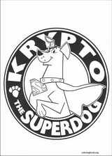 Krypto coloring page (007)