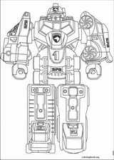 Power Rangers coloring page (053)