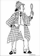 Sherlock Holmes coloring page (006)