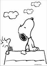 Snoopy coloring page (005)
