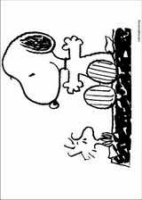 Snoopy coloring page (019)