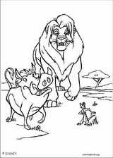 The Lion King coloring page (096)